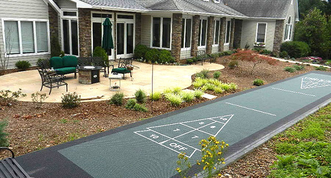 backyard shuffleboard court